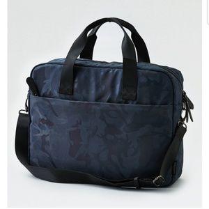 American Eagle grey camo messenger bag